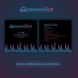 Entertainment business card designs 171 entertainment business entertainmentxp business cards business card design by clickdesign colourmoves