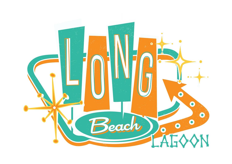 Retro 1950's Long Beach Lagoon Logo by roman.free