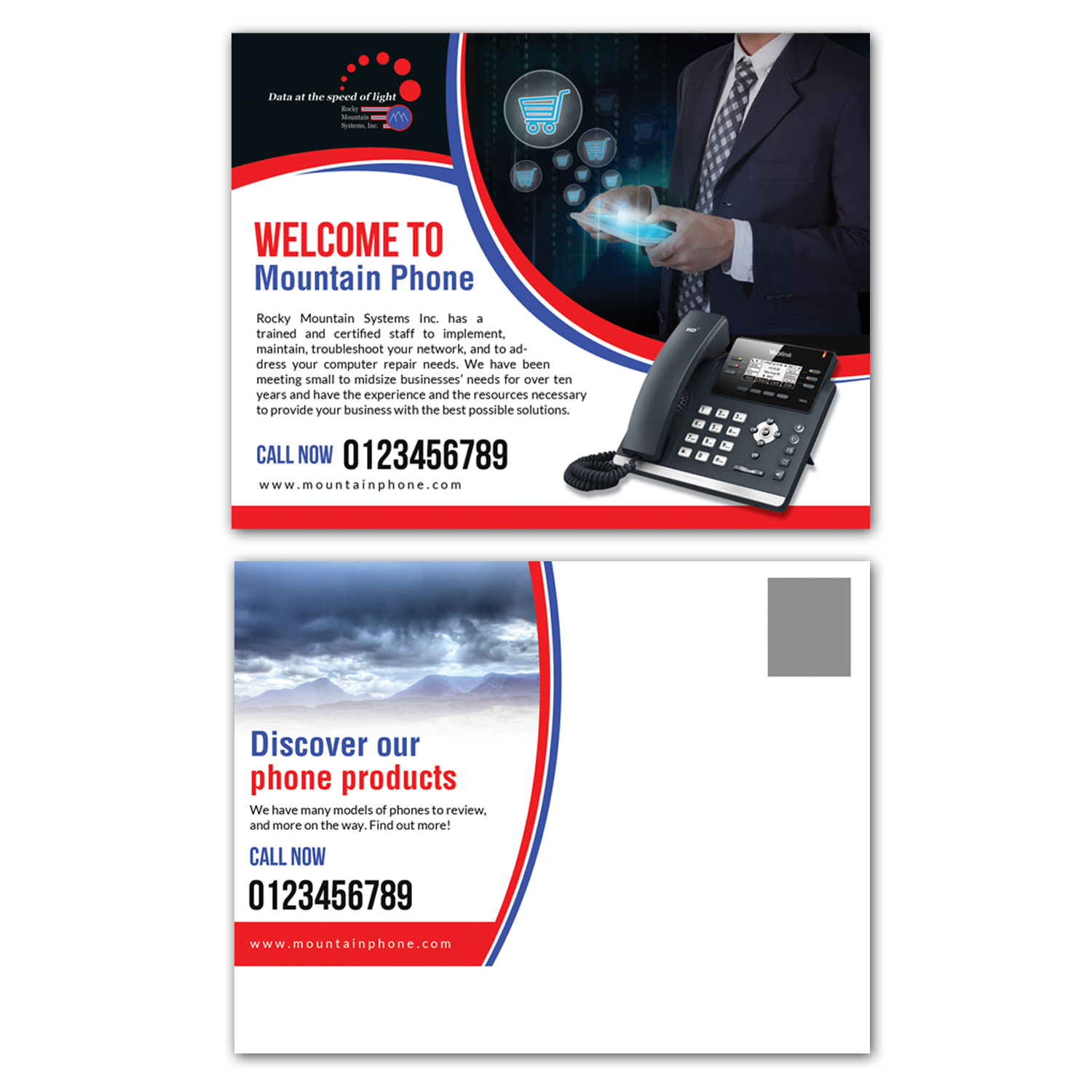 Professional, Serious, Business Postcard Design for a Company by ...