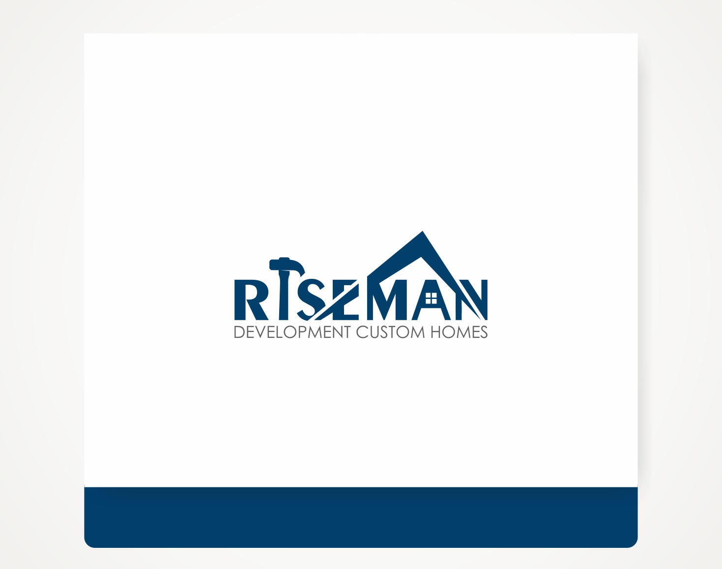 Modern, Upmarket, Home Builder Logo Design for Riseman Development ...