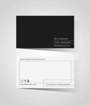 ultra minimalist business card - Minimalist Business Card