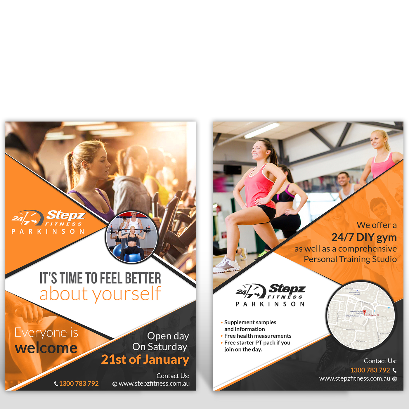 Elegant Playful Health Poster Design For A Company By: Elegant, Playful, Gym Flyer Design For Stepz Fitness