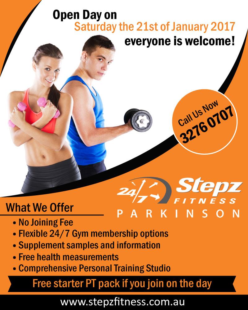 Elegant, Playful, Gym Flyer Design for Stepz Fitness
