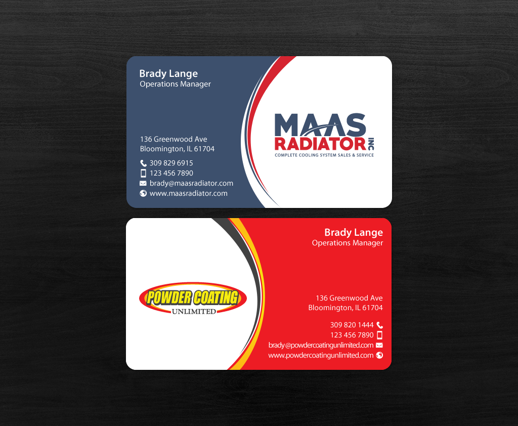 134 professional business card designs industrial business card business card design by chandrayaaneative for maas radiator inc design 13209329 reheart Image collections
