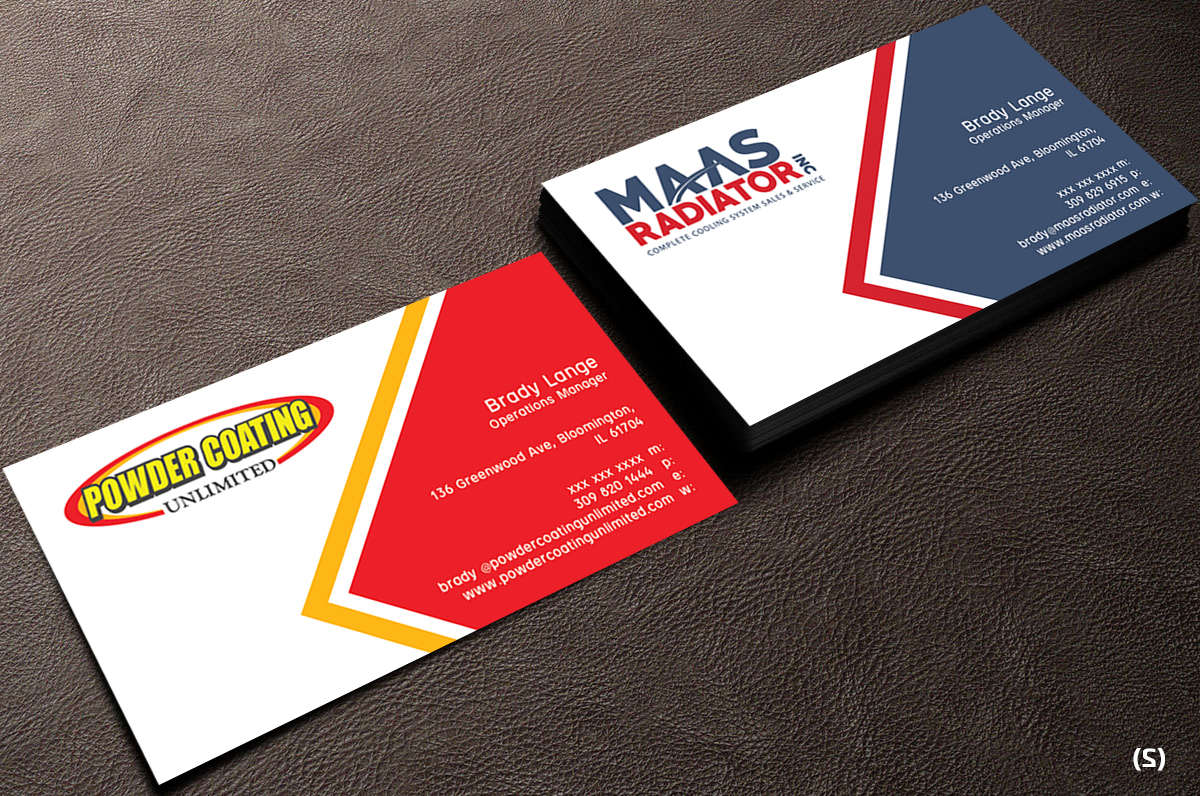 Professional, Modern Business Card Design for Maas Radiator Inc by ...