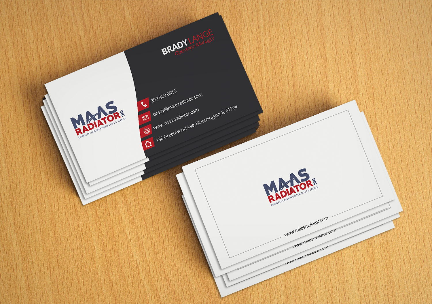 Professional, Modern, Industrial Business Card Design for Maas