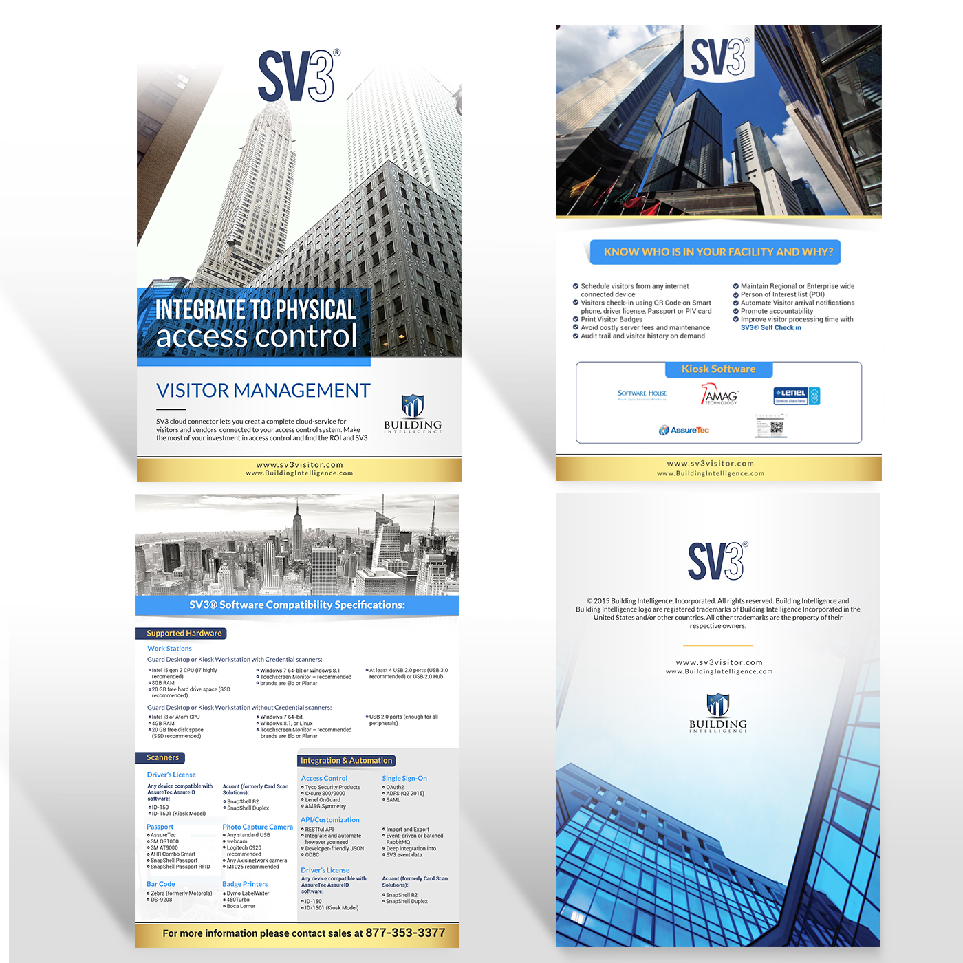 Serious, Modern, Security Flyer Design for Building Intelligence Inc