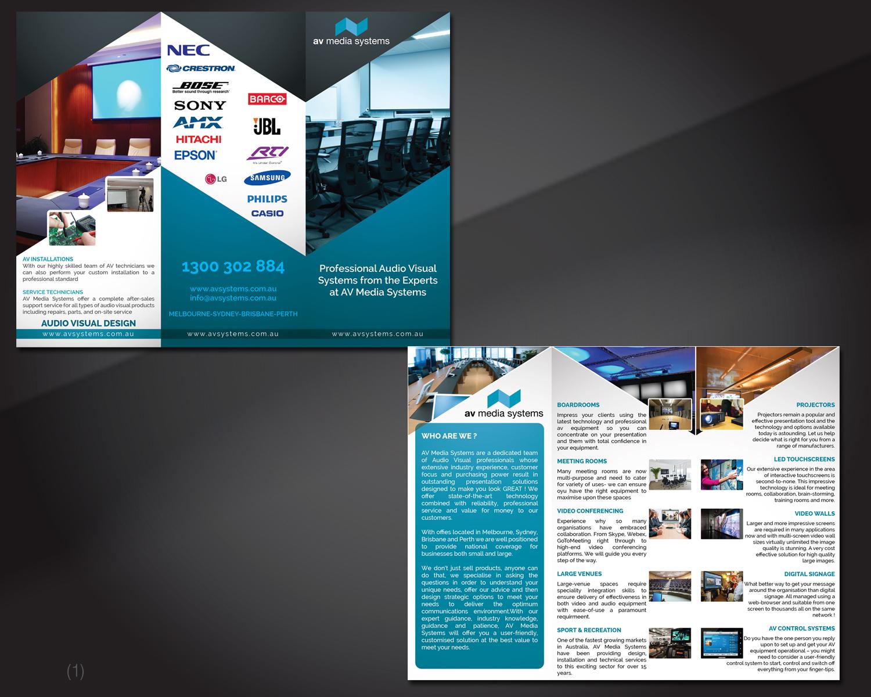 elegant serious business flyer design for av media systems by