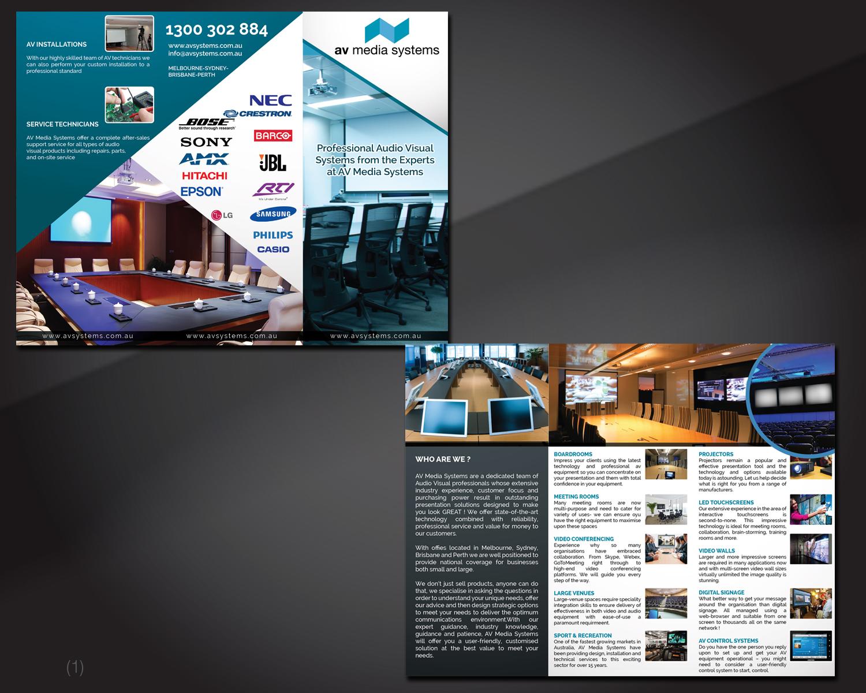 Elegant, Serious, Business Flyer Design for AV Media Systems ... on