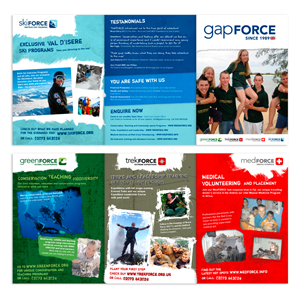 Brochure Design by Nic - Young Gap Year Global Volunteer A5 Flyer needed