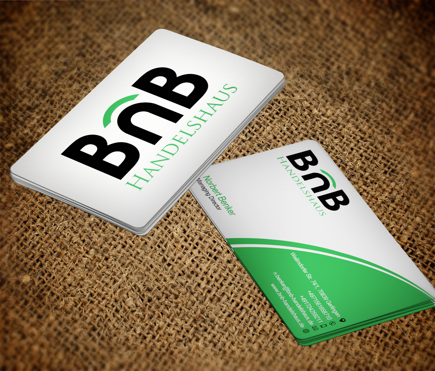 Elegant, Serious, Trade Business Card Design for BnB Handelshaus by ...