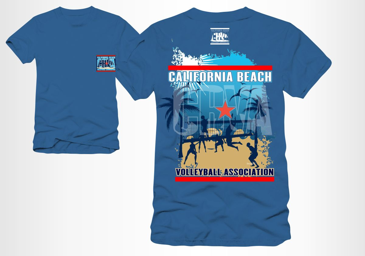 Bold Playful Adult T Shirt Design For California Beach Volleyball