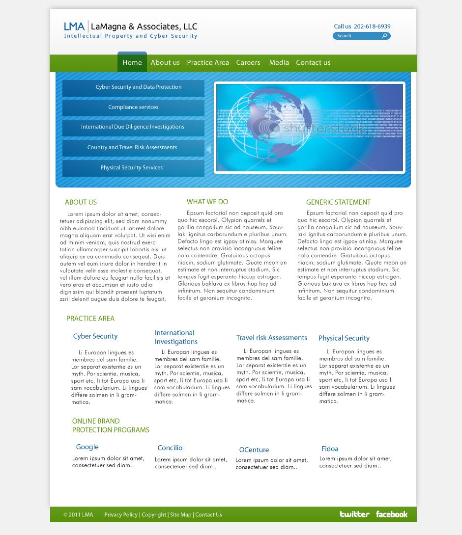 Professional masculine business web design for a company for Masculine web design