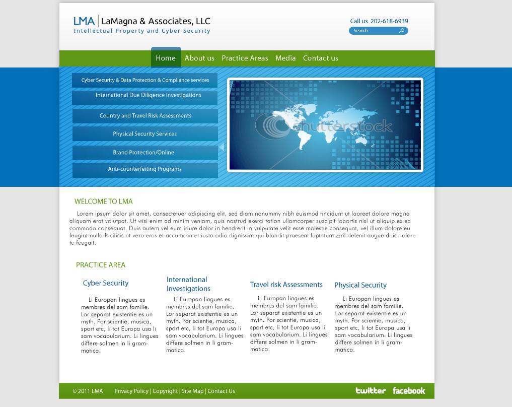 Professional masculine web design for richard lamagna by for Masculine web design
