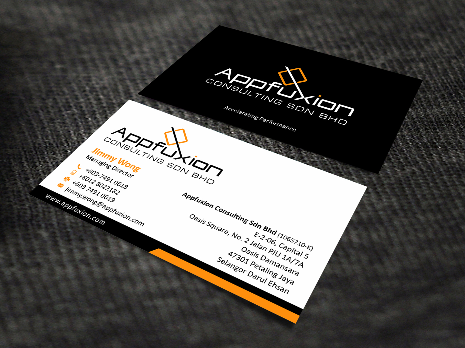 Business Business Card Design for Appfuxion Consulting Sdn Bhd by ...
