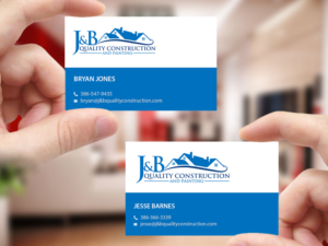 Business Card Design By Creations Box 2015 For J B Quality Construction LLC