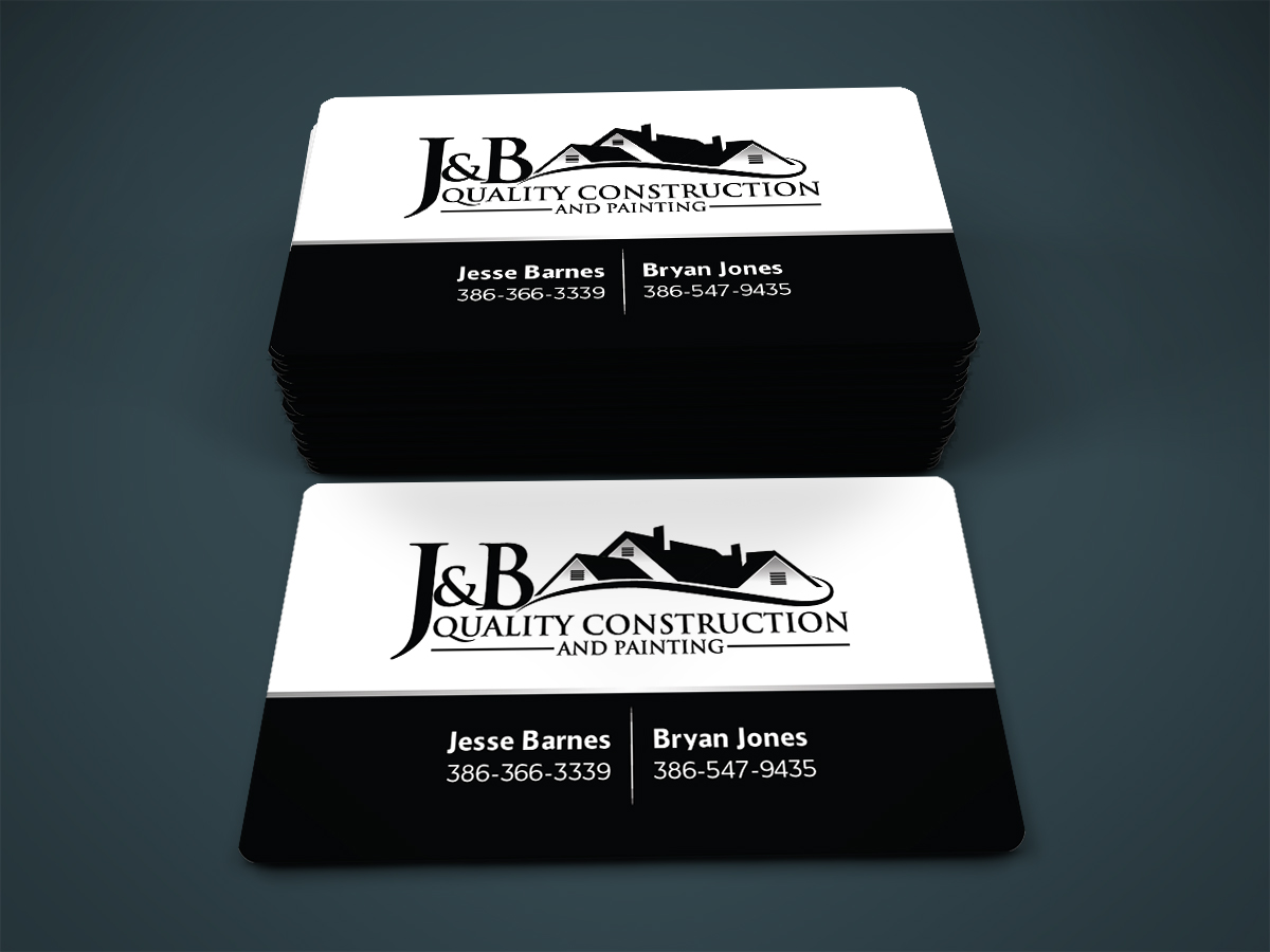 business card design by designanddevelopment for j b quality construction business card ideas design - Business Cards Ideas Designs