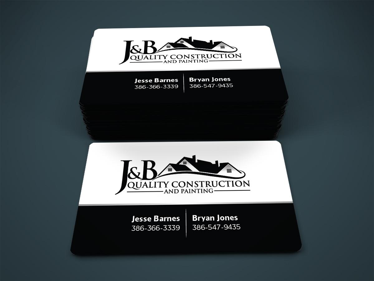 Professional masculine construction company business card design business card design by designanddevelopment for j b quality construction llc design 13309726 colourmoves