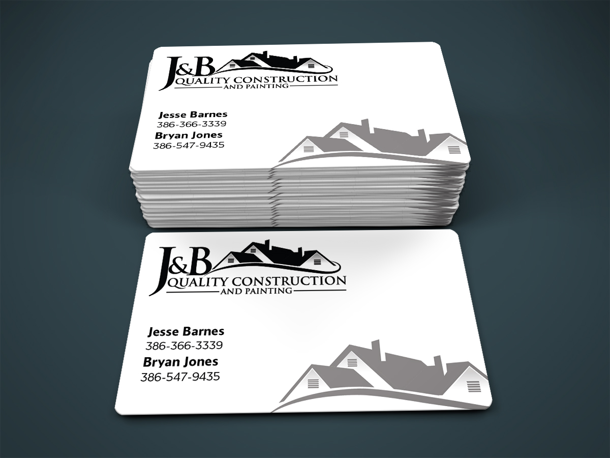 Professional, Masculine Business Card Design for J & B Quality ...