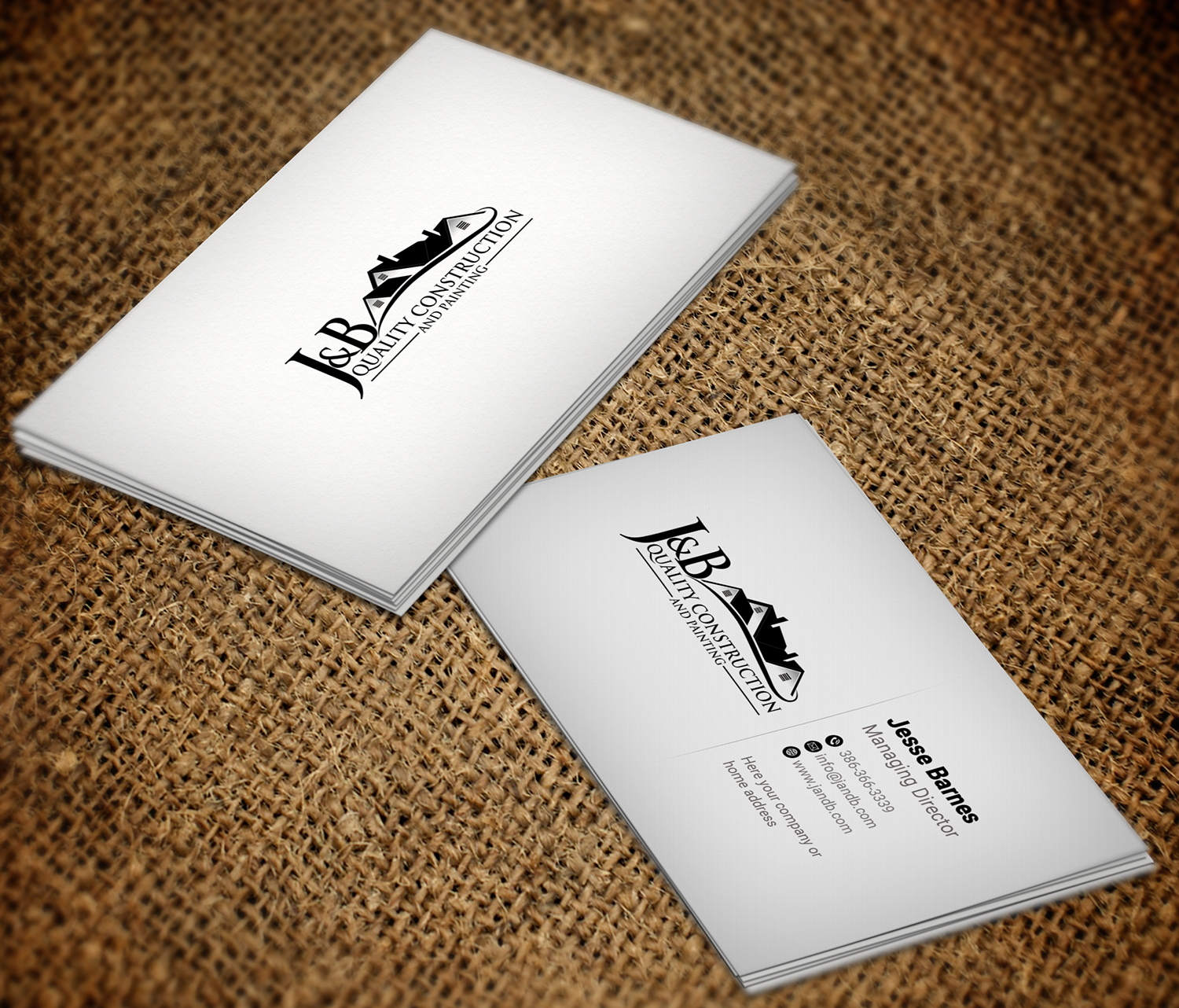 Professional, Masculine, Construction Company Business Card Design ...