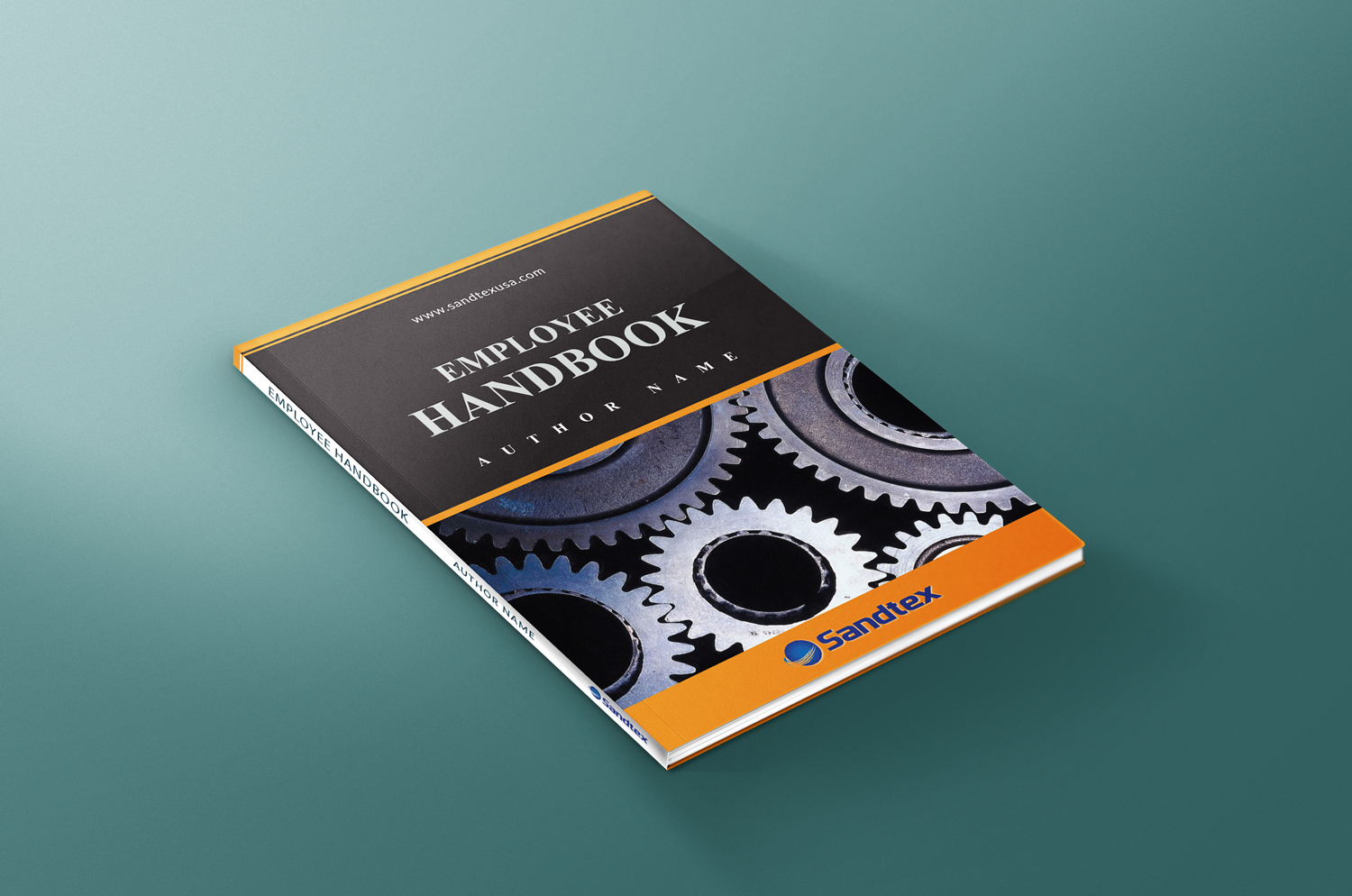Book cover design by designmoment design 13271473 for Employee handbook cover design template
