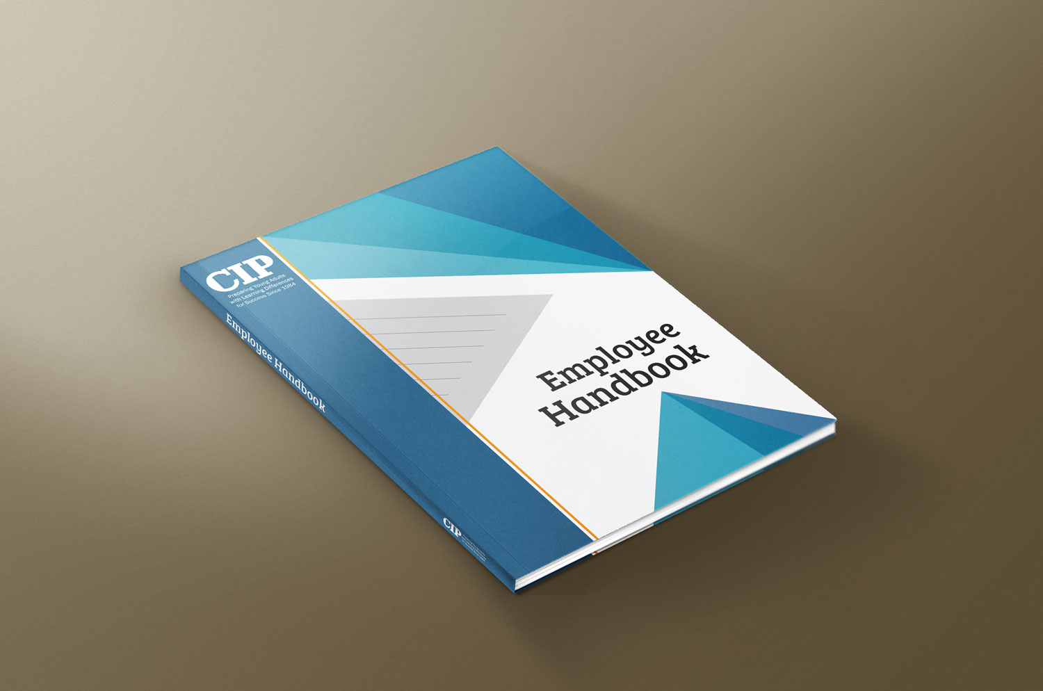 modern bold education book cover design for college internship