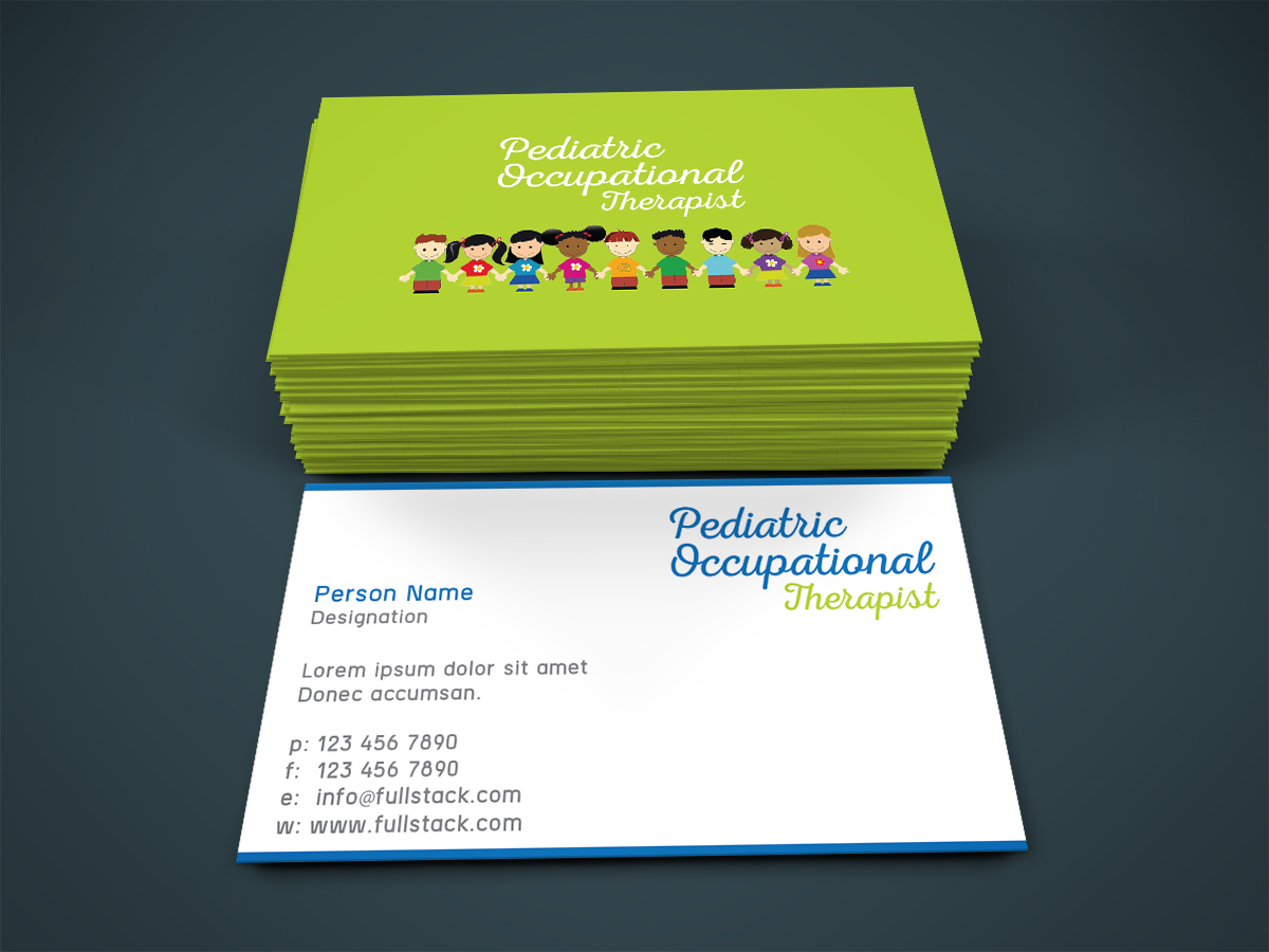 Modern professional business business card design for abilities business card design by designanddevelopment for abilities therapy professionals design 13293049 colourmoves
