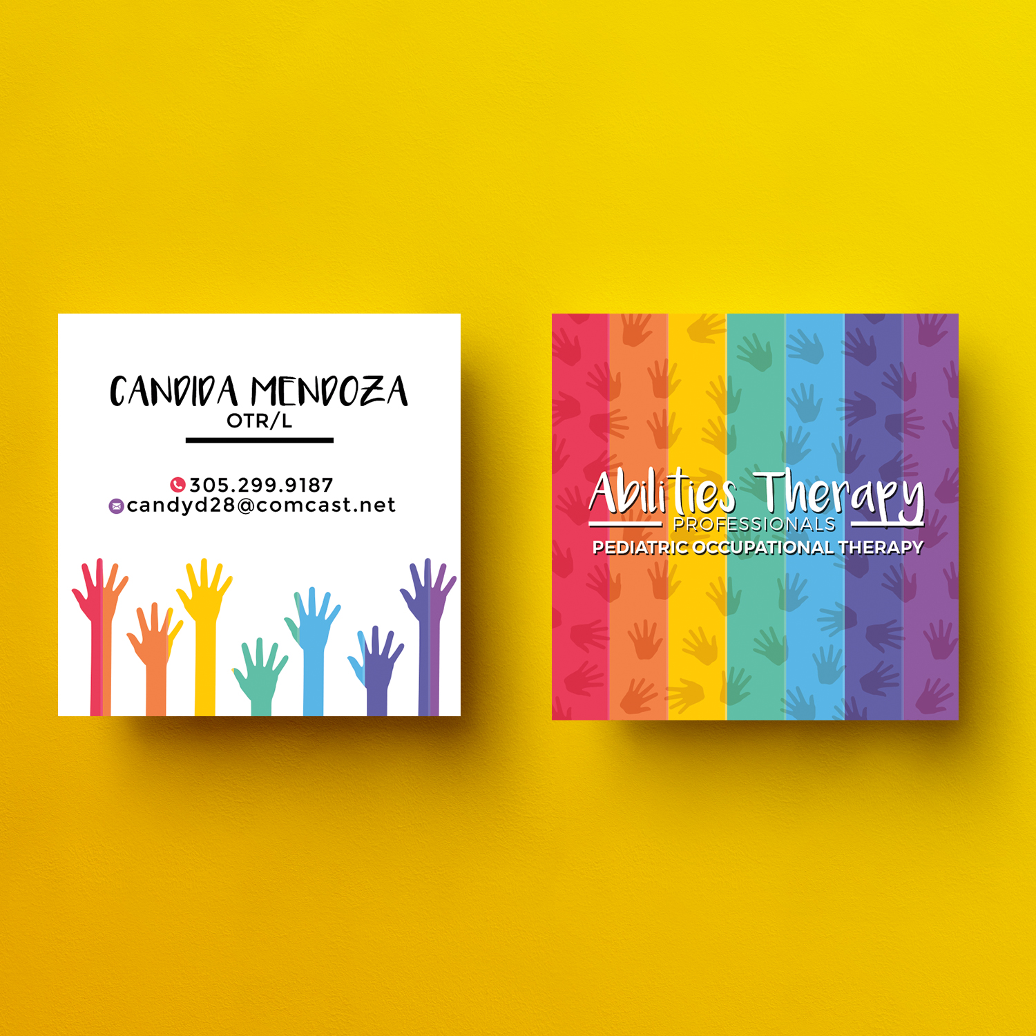 Modern Professional Business Card Design For Abilities Therapy