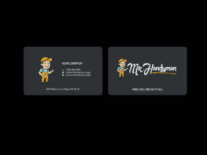 202 professional business card designs handyman business card business card design by creations box 2015 for this project design 13287356 reheart Gallery