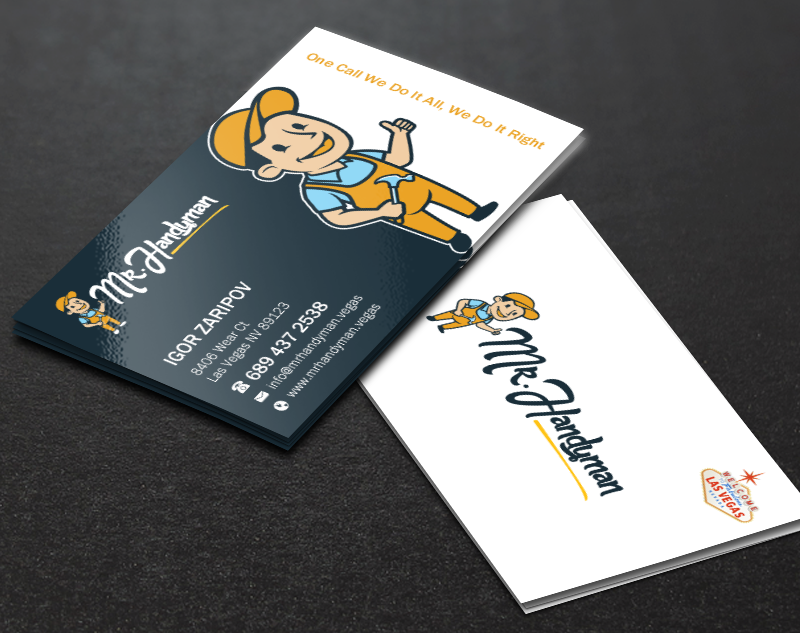 professional modern handyman business card design for a company by