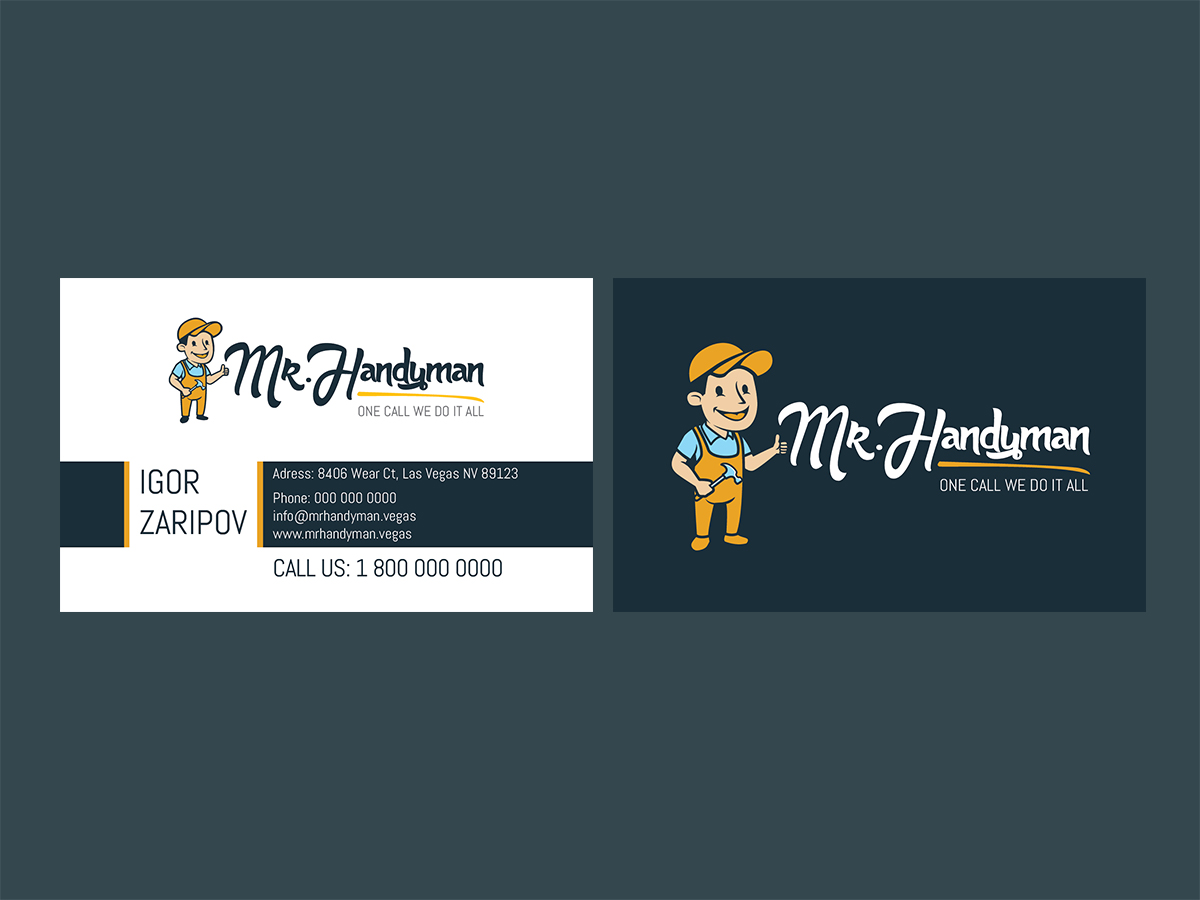 Professional, Modern, Handyman Business Card Design for a Company by ...