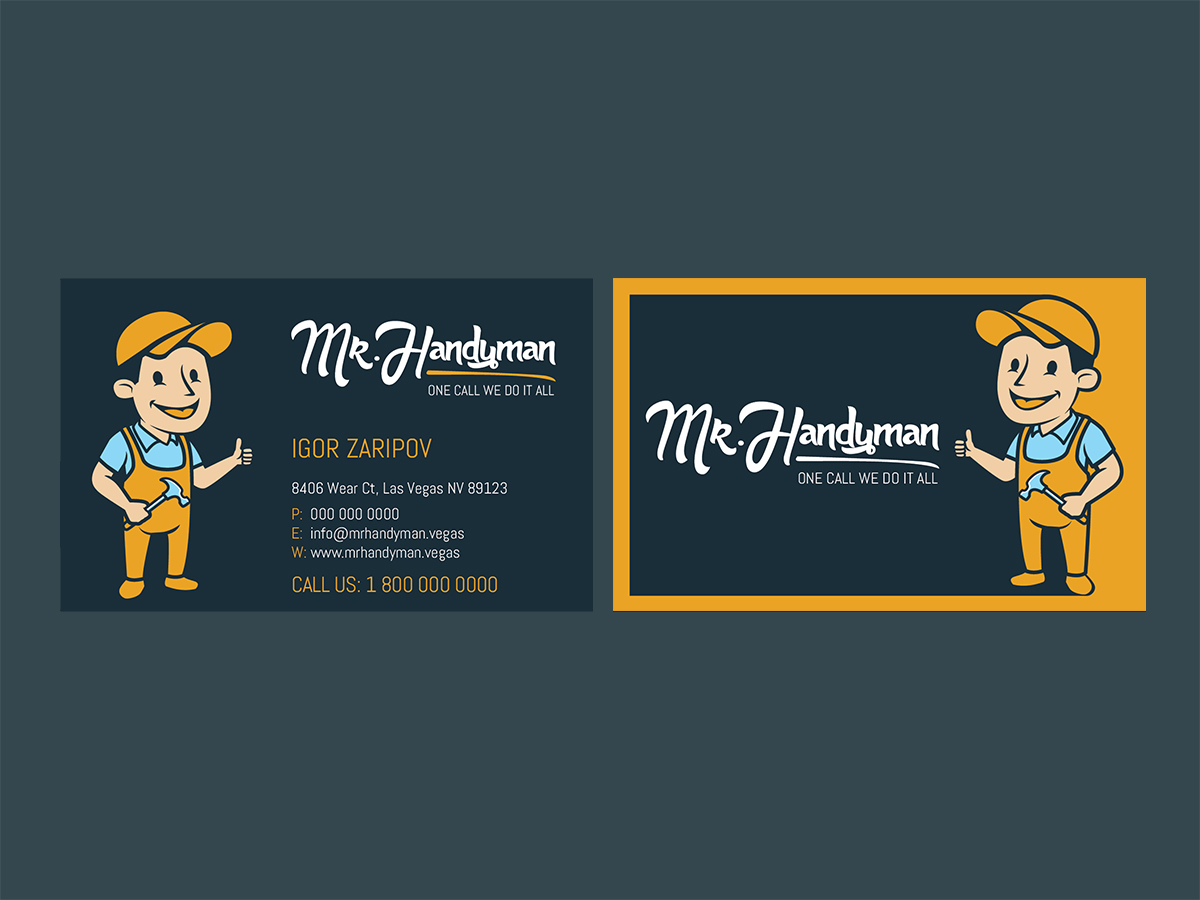 Professional modern handyman business card design for a company by business card design by designanddevelopment for this project design 13296288 colourmoves