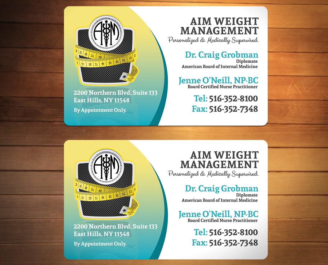 Feminine Serious Medical Business Card Design For Aim