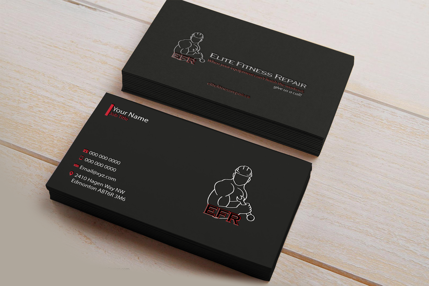 Bold, Professional Business Card Design for Elite Fitness Repair ...
