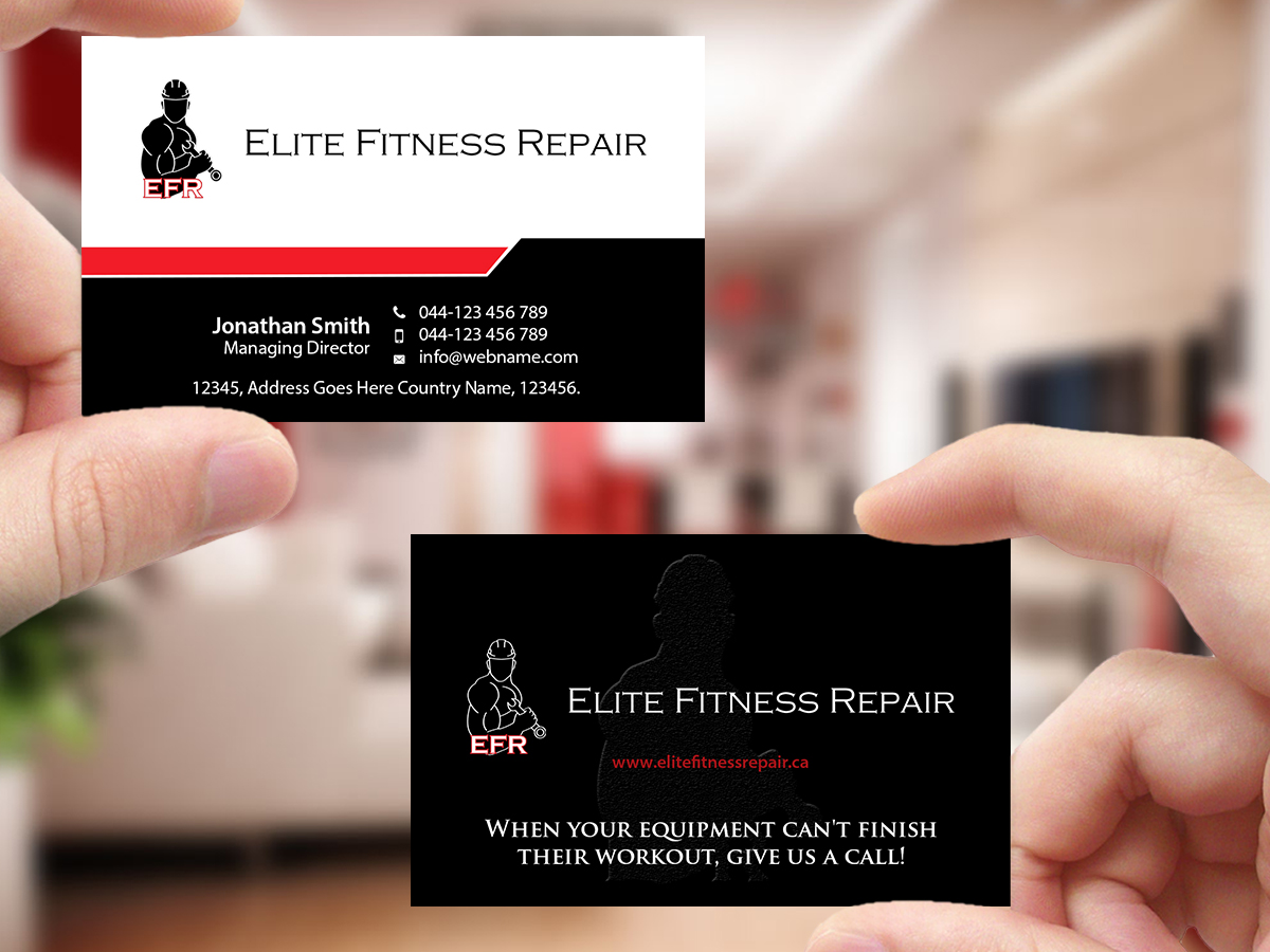 Bold, Professional, Appliance Repair Business Card Design for Elite ...