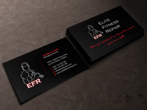 Bold professional business card design job business card brief for business card design job fitness equipment repair business needs a catchy new business card colourmoves