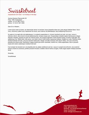 Stationery Design by J. Saunders Creative - Stationery & Logo | SwissRetreat - Swim Bike + ...