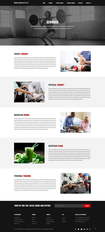 Bold Masculine Health And Wellness Web Design For Body Alliance Llc By Pb Design 13599077
