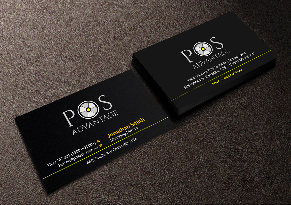 Modern professional business business card design for pos business card design by creations box 2015 for this project design 13488567 reheart Gallery