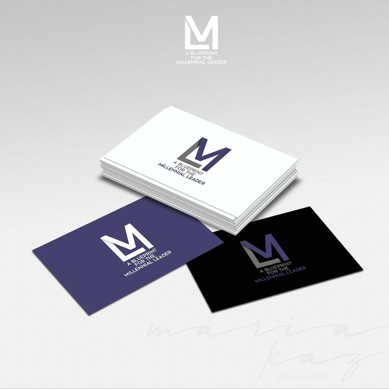 Modern bold leadership logo design for ml is what i had in mind logo design by maria kaz for hall talk llc design 14006825 malvernweather Gallery