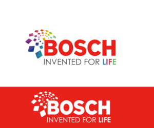 bosch invented for life logo. logo design (design #13316083) submitted to bosch silicon valley hackathon (closed) invented for life