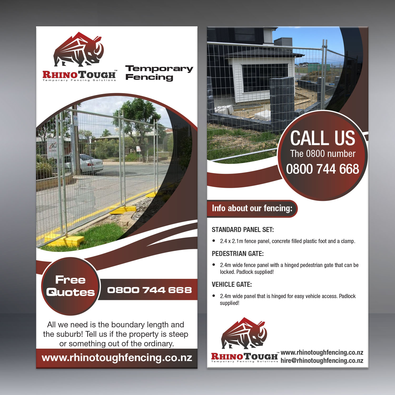 Professional Upmarket Fencing Flyer Design For A Company