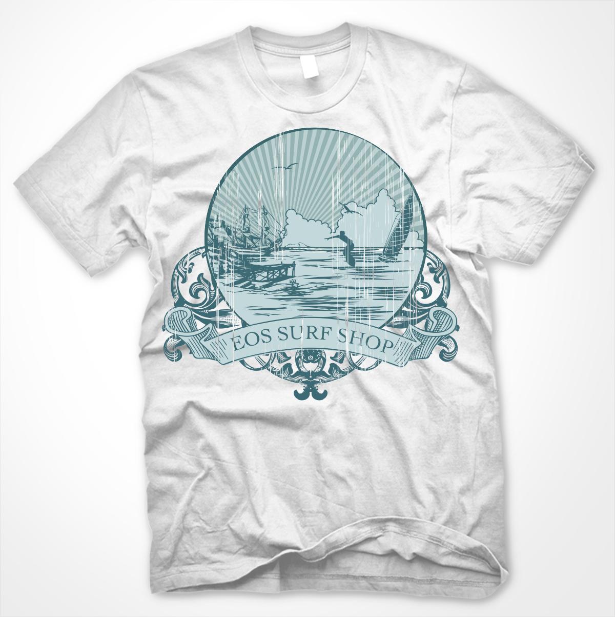 T shirt design for eos surf shop by jaden ranen design for Surf shop tee shirts