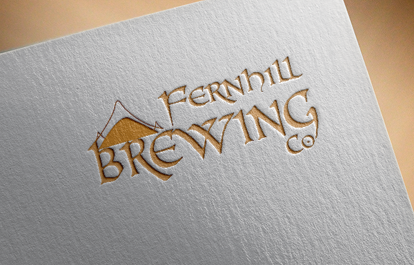 Bold, Personable, Brewery Logo Design for Fernhill Brewing Co by