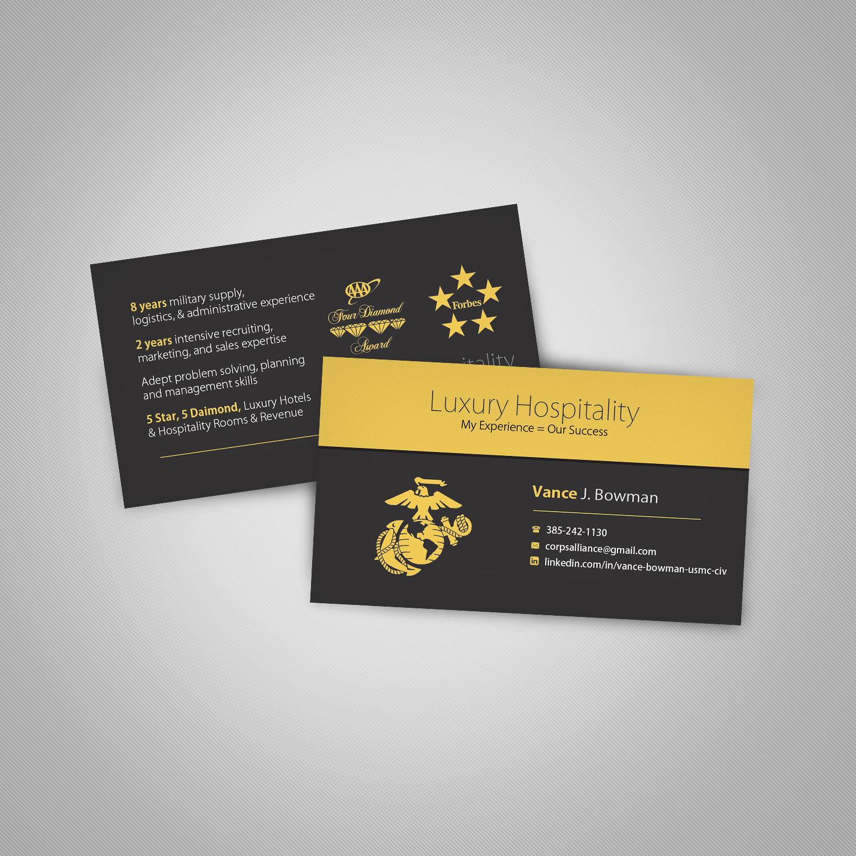 Elegant, Playful Business Card Design for Vance Bowman by ...