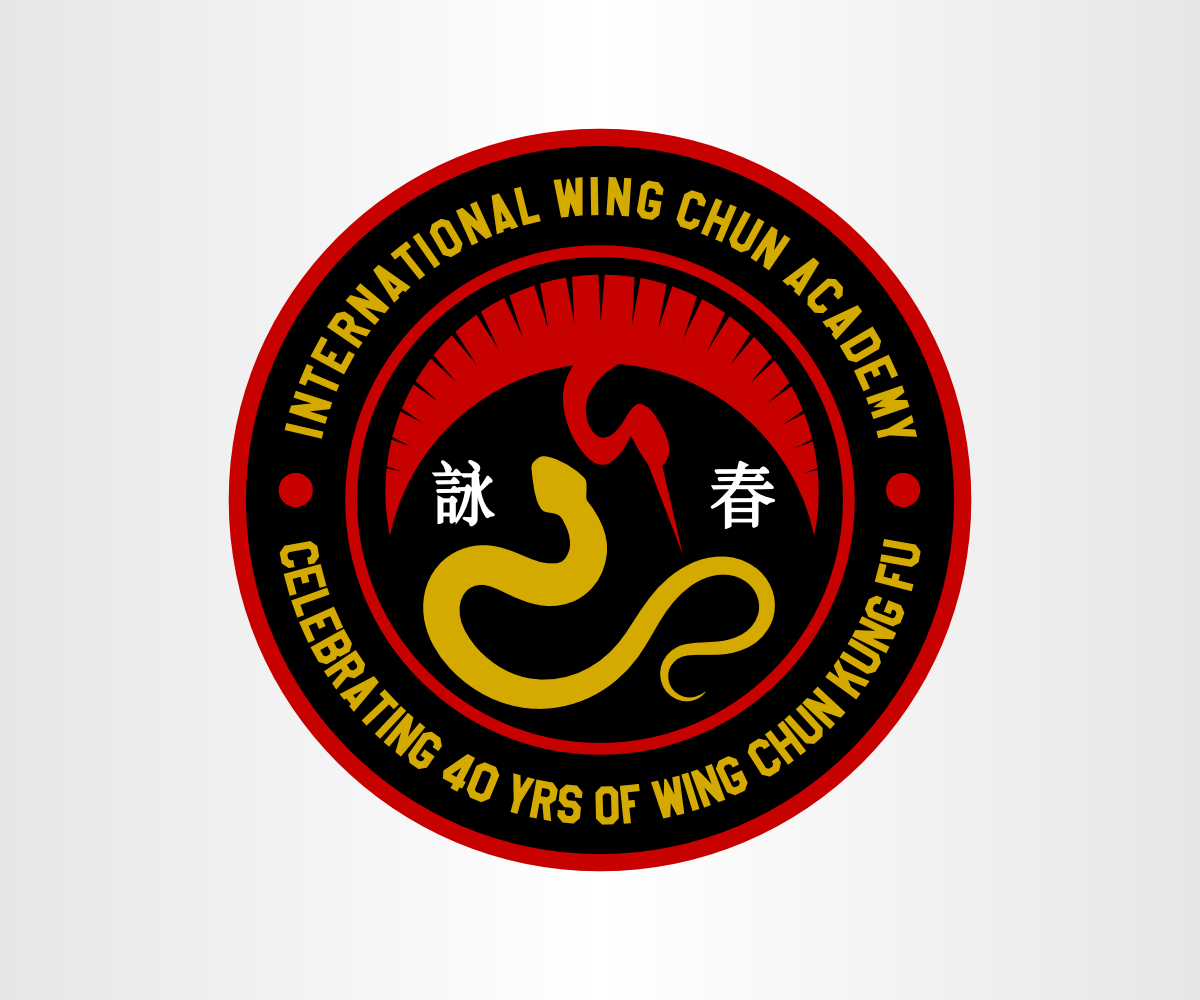 Bold Serious School T Shirt Design For International Wing Chun