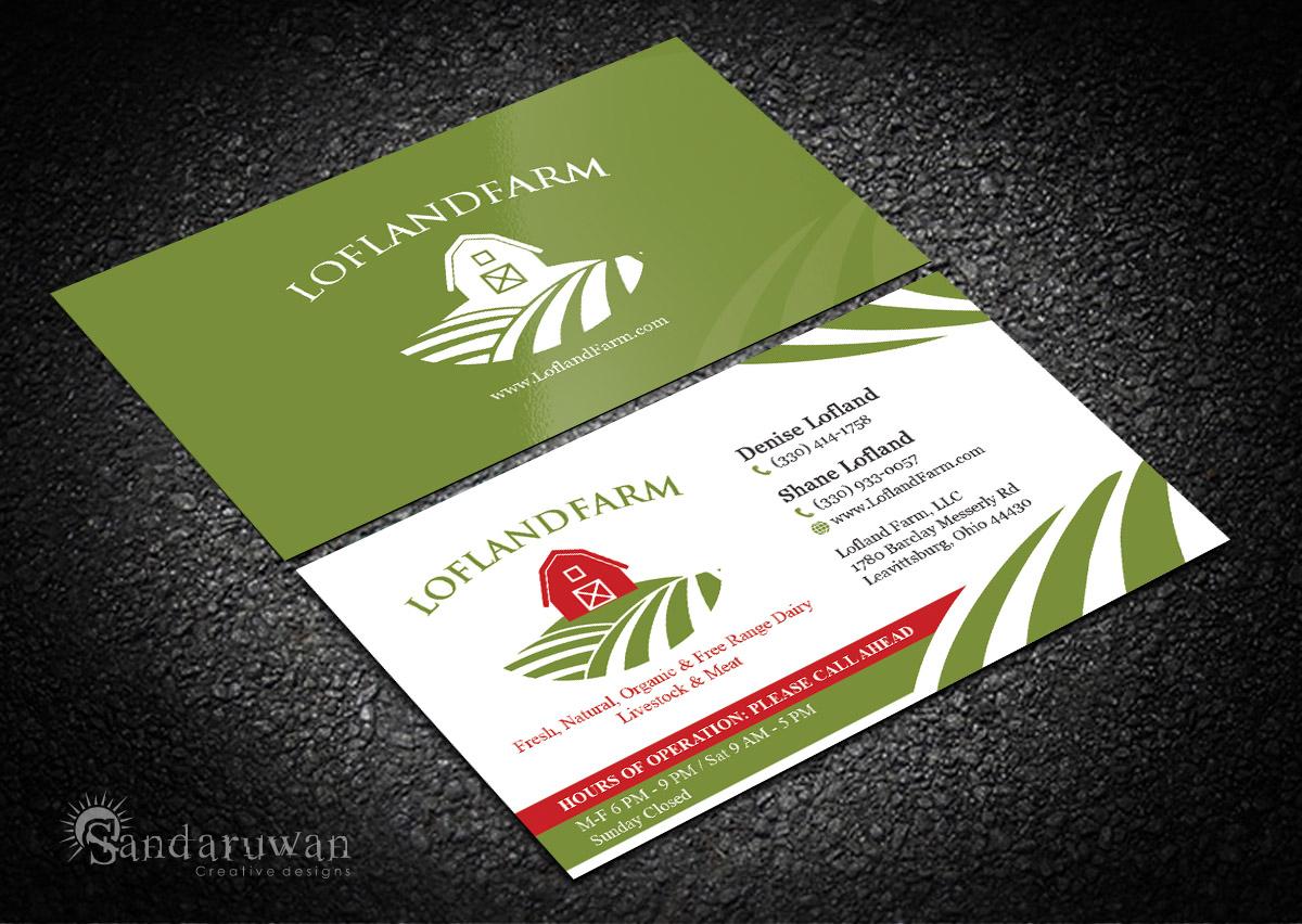 Business Card Design for Lofland Farm, LLC by Sandaruwan | Design ...