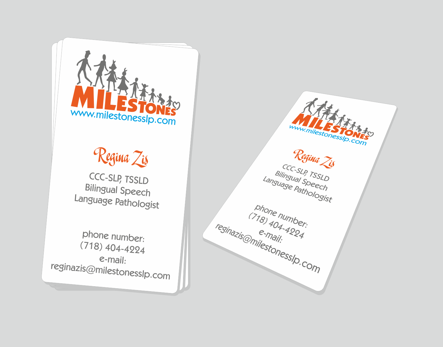 Elegant, Playful, Business Business Card Design for Milestones by ...