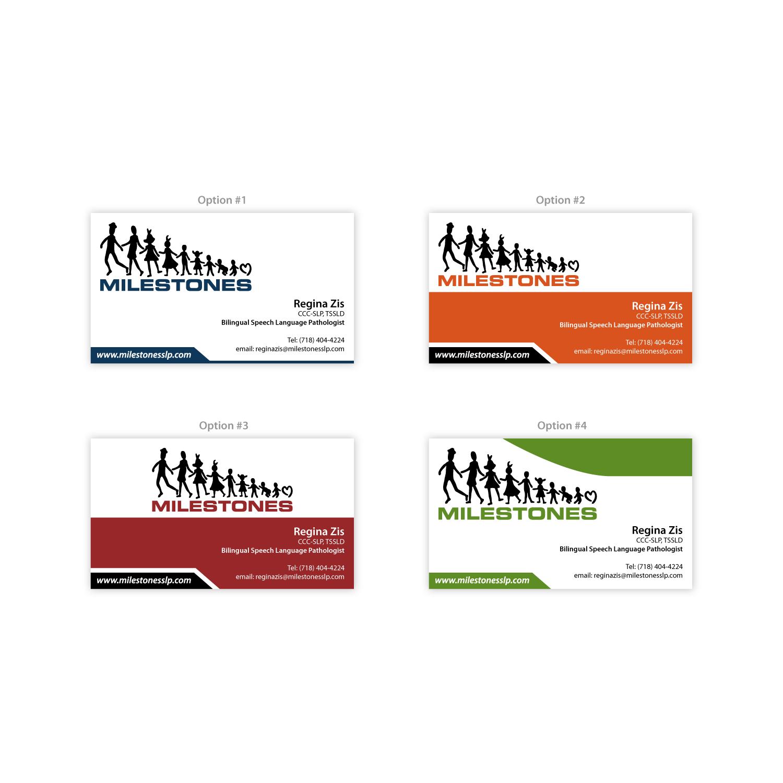elegant playful business card design for milestones by sallu