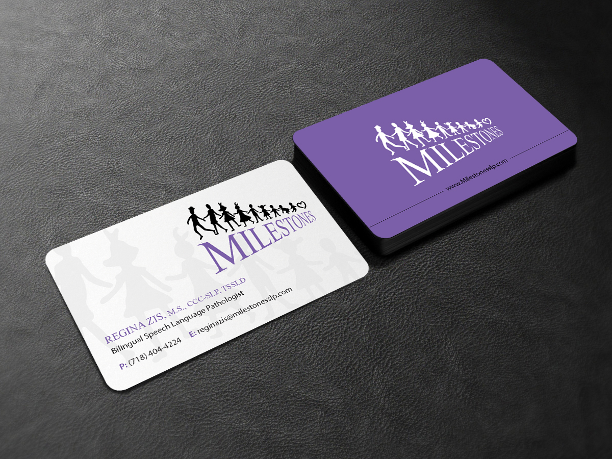 Elegant, Playful Business Card Design for Milestones by Creations ...